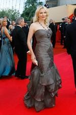 Cate Blanchett arrives for the premiere of the film |Indiana Jones and the Kingdom of the Crystal Skull| during the 61st International film festival in Cannes, southern France, Sunday, May 18, 2008. Picture: AP