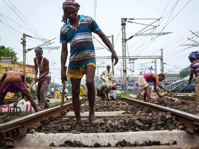 Narendra Modi's government is pumping money into Indian railways in an effort to unclog the system and keep the country moving. Picture: Raymond Zhong/The Wall Street Journal