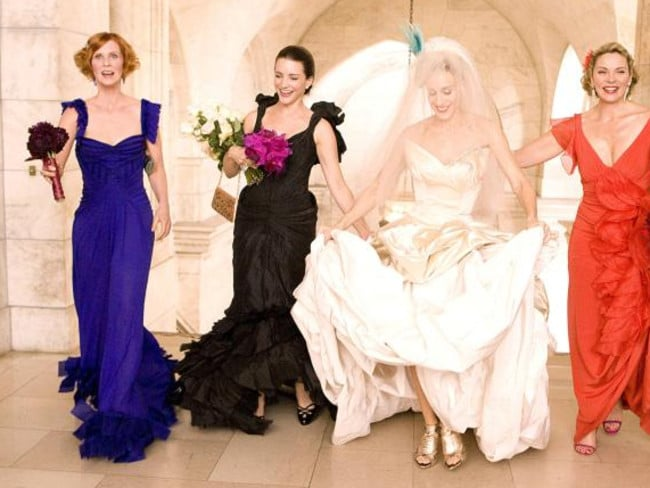 After Sex ... Cynthia Nixon, Kristin Davis, Sarah Jessica Parker, Kim Cattrall in Sex and the City.