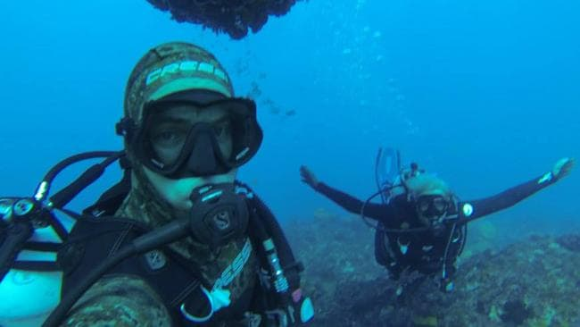 Ocean lovers ... Adam Haling and his girlfriend Sonia Harvey. Picture: Courtesy of Adam Haling.