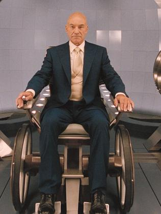 Sir Patrick Stewart as the revered and powerful Professor X in X-Men 2. Picture: Twentieth Century Fox
