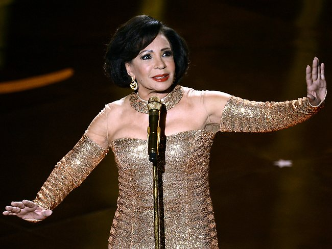 Shirley Bassey performs onstage during the Oscars held at the Dolby Theatre on February 24, 2013 in Hollywood, California. Picture: Getty Images