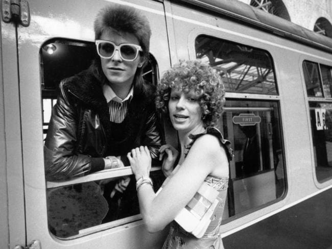 The way they were ... David Bowie with his ex-wife Angie. Picture: Getty