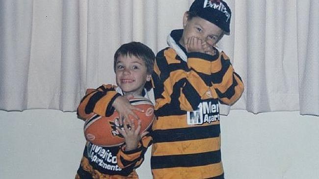 Tigers young gun Luke Brooks as a kid.