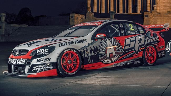HRT's lion makes way for the ANZAC Appeal logo.