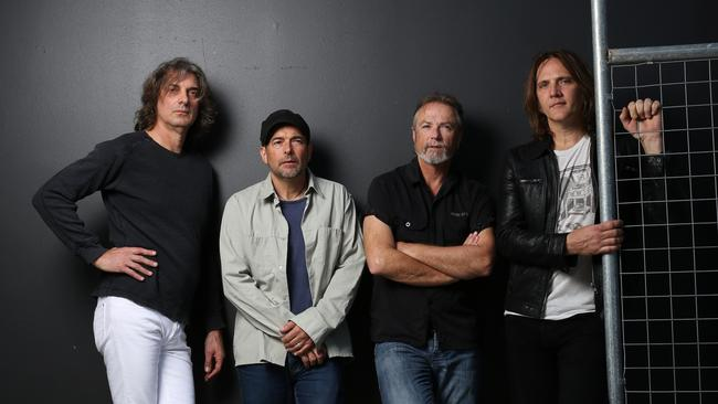 Former Powderfinger guitarist Ian Haug newest member of The Church with band members Peter Kroppes, Steve Kilbey and Time Powles