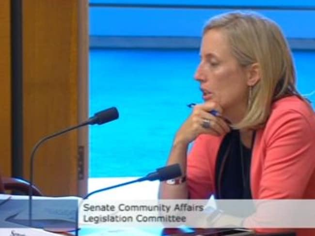 Senator Katy Gallagher wasn't happy with the answers he gave her.