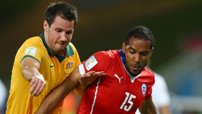 Ryan McGowan is the favourite to replace the injured Ivan Franjic for Australia's clash with Holland. Picture: Clive Brunskill.