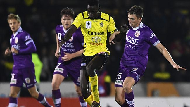 Ken Athiu scored the winning goal against Perth in the FFA Cup Round of 32. Photo: Getty Images