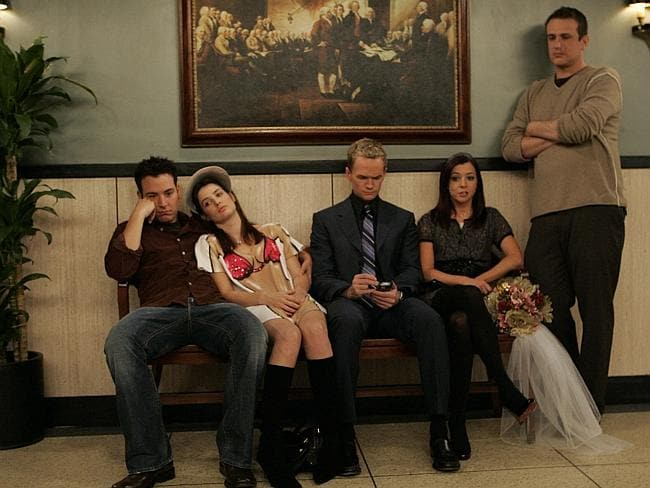 An scene from How I Met Your Mother in season three.