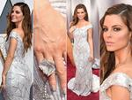 Maria Menounos wears a custom Christian Siriano for Stella Artois gown at the 88th Annual Academy Awards. Picture: Getty