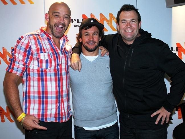 Mark Geyer (L), Matty Johns and Gus Worland are Triple M's The Grill Team.