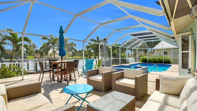 One day, the swamp will reclaim the ground around this glamorous swimming pool. Picture: Zillow