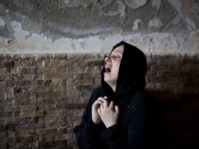 Cycle of violence ... The Palestinian sister of Mohammed al-Daeri, 25, mourns during his funeral in Gaza City on July 31, 2014. Picture: AFP
