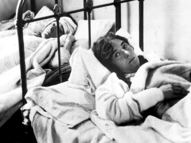 Shocked survivers of the Titanic sinking in hospital, New York. Picture: AP