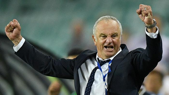 Sydney FC coach Graham Arnold reacts following their win over United in the round 16 A-League match between the Sydney FC and Adelaide United at Allianz Stadium in Sydney, Friday, Jan. 20, 2017. (AAP Image/Dan Himbrechts) NO ARCHIVING, EDITORIAL USE ONLY