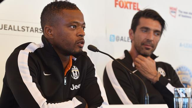 Juventus pair Patrice Evra and Gianluigi Buffon speak to the Australian media.