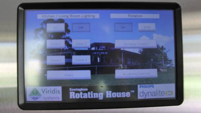 Movement of the house is controlled through a touchpad. Picture: Stayz.