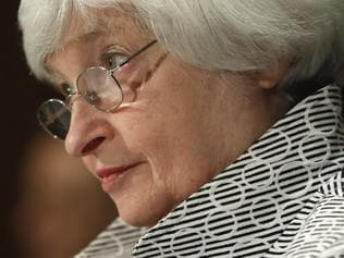 FILE - In this Thursday, July 13, 2017, file photo, Federal Reserve Chair Janet Yellen testifies on Capitol Hill in Washington, before the Senate Banking Committee. On Wednesday, July 26, 2017, the Federal Reserve releases its latest monetary policy statement after a two-day meeting. (AP Photo/Pablo Martinez Monsivais, File)