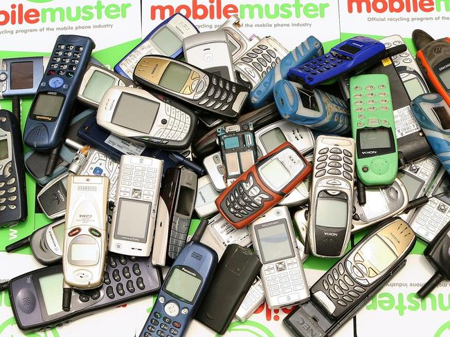 Out with the old ... MobileMuster encourages people to recycle their old phone when they upgrade.