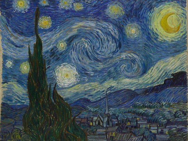 Vincent van Gogh's Starry Night. Picture:AP
