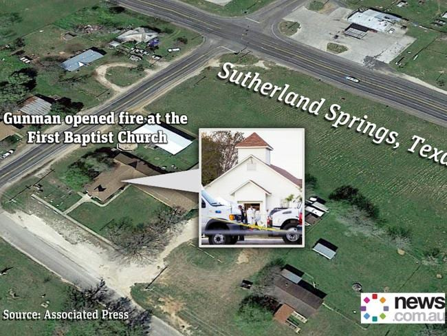Sutherland Springs, the scene of the latest mass killing in the United States.