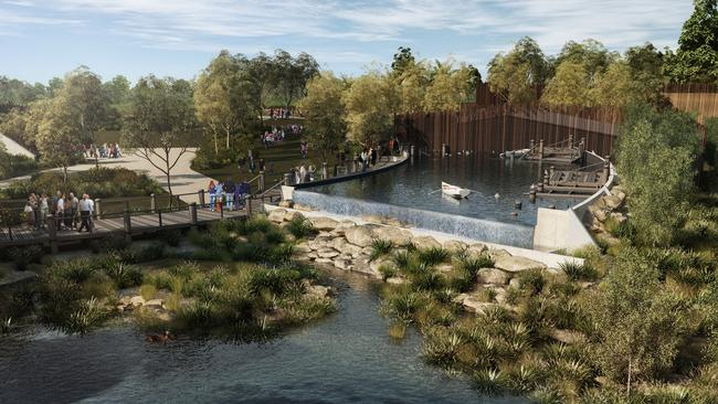 Construction of the new zoo began late last year. It's expected to open early in 2019.
