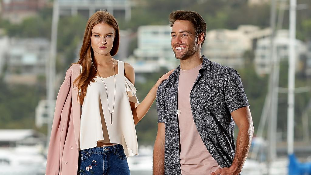Models Brooke Durrant & Dale Leisgang wearing fashions from Topshop at Myer to promote the new store opening at Warringah Mall. Picture: Troy Snook <source></source>Styling: Shannon Meddings.