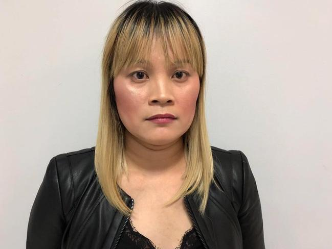 Australian Ve Thi Tran, 37, under arrest in Phnom Penh with alleged 2kg of heroin she transported from Brazil. Picture: Khmer Immigration Department