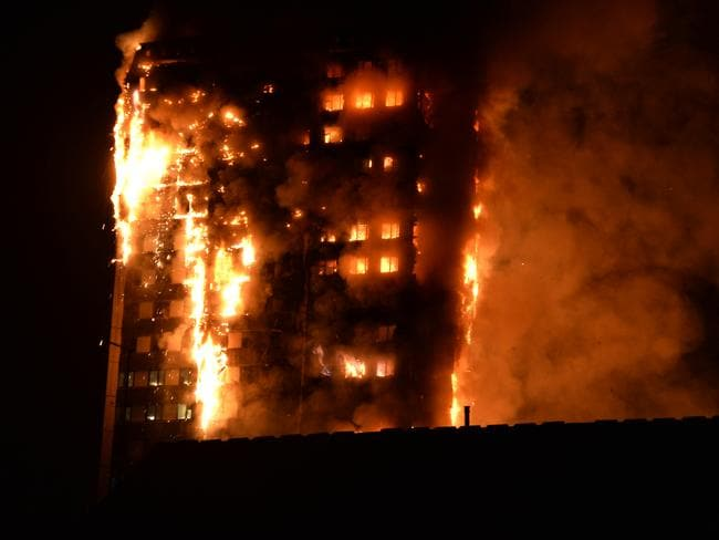 The fire has devastated the 24-storey building.