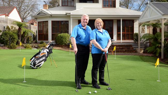 Peter and Angela Mann are selling their Blackburn house, a dream buy for serious golfers.