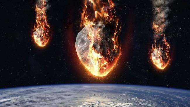 Professor Hawking warned that asteroid strikes could wipe us out.