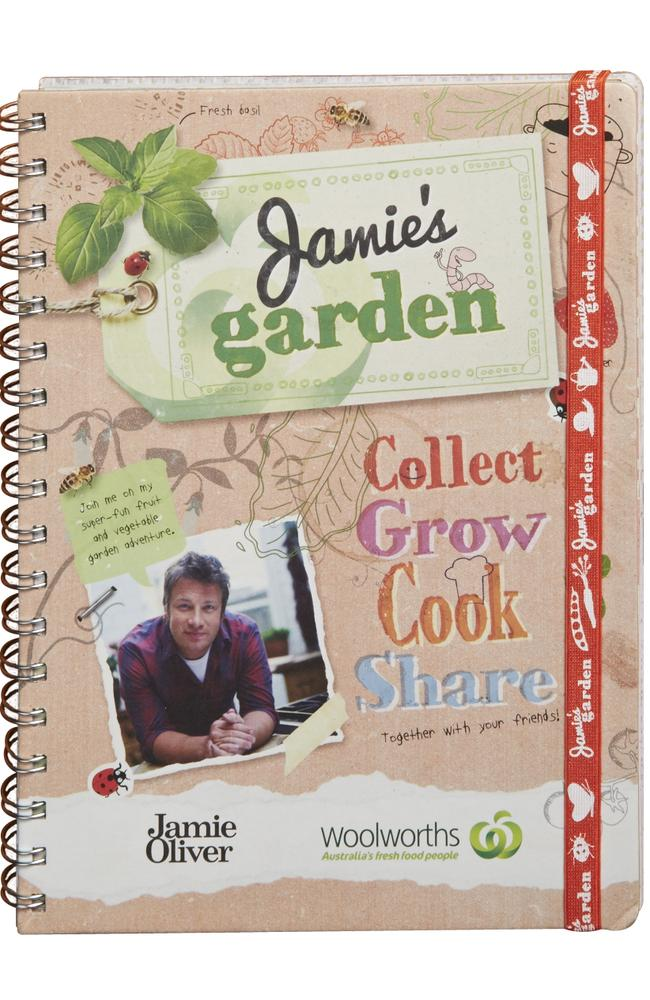 Jamie Olivers scrapbook is $5 in Woolworths stores. Customers receive four stickers for every $20 spent.