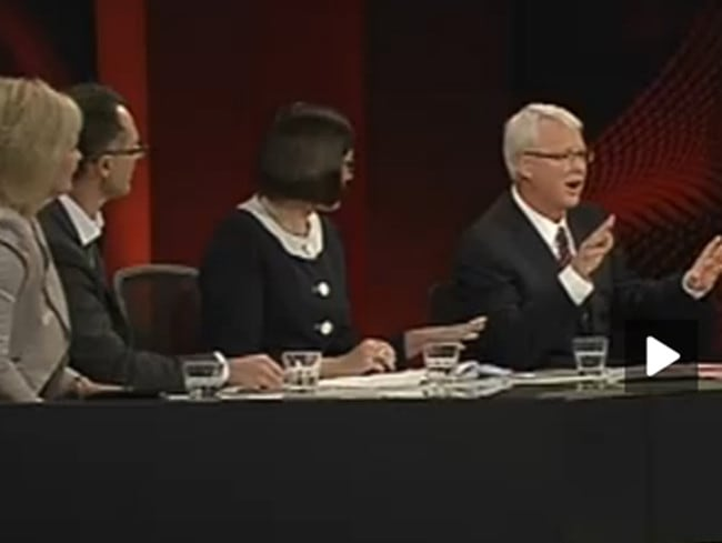 The Q&A panel got fired up during last night's show. Picture: Screengrab/ABC