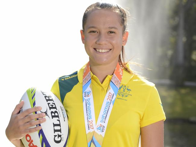 Page McGregor was a member of the Commonwealth Youth Games team which won gold.