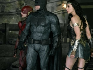 The Flash, Batman and Wonder Woman in 'Justice League'. Photo: WB