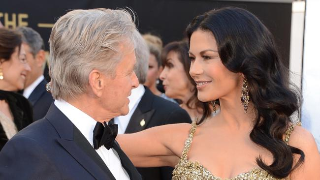 Douglas and Zeta-Jones at the Oscars this year. Photo by Jason Merritt/Getty Images