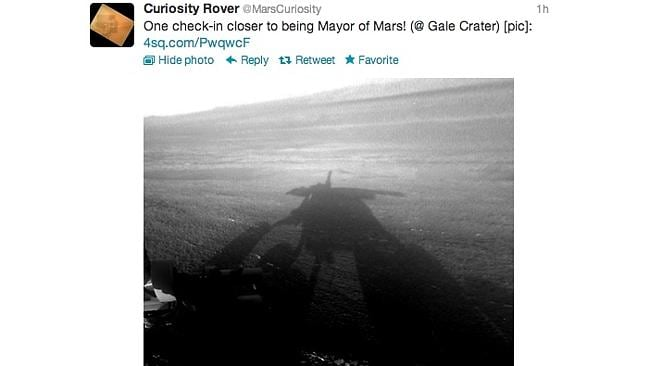 Social media goes to outer space with NASA's rover checking in on Foursquare