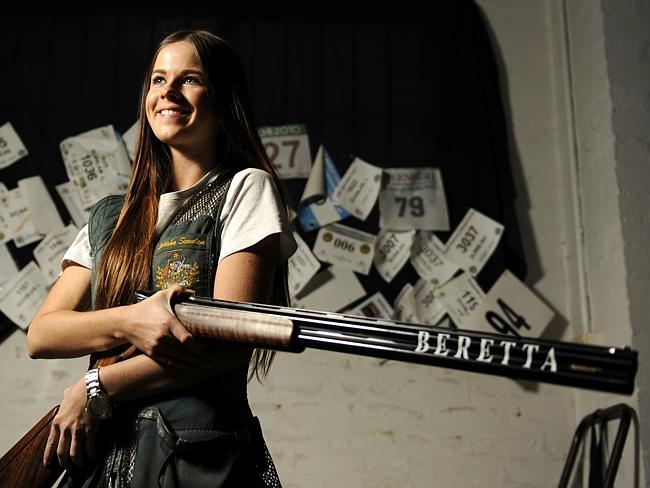 Aussie trapshooter Laetisha Scanlan, 24, is ranked fifth in the world.