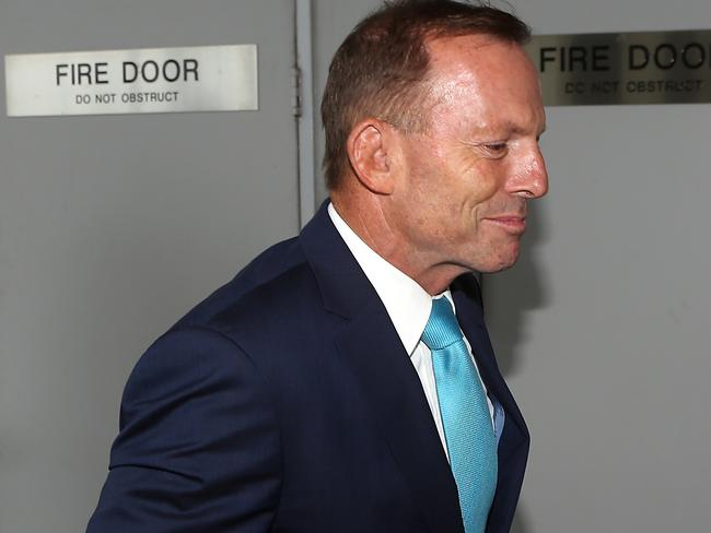 Tony Abbott said he was 'very happy' for his sister and new sister-in-law. Picture: Diimex