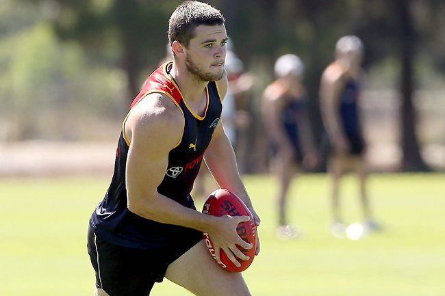 Crows training, Max Basheer Reserve. Brad Crouch Picture: Sarah Reed