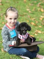 Among those taking part in The Million Paws walk at Elder Park was 5-year-old Sienna with her dog Peppa.