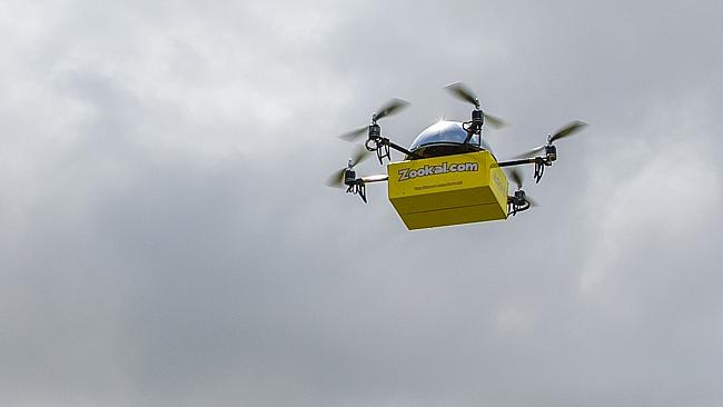 The battery operated drones are said to be cheaper and greener than using cars. Picture: Supplied.