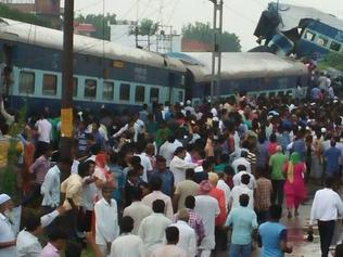 Supplied Editorial Train derails in north India