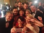 "Actress Jessica Tovey takes control of the camera, ""Now THIS is a #selfie! When @kylieminogue met #WonderlandTen... #tvweeklogies"" Picture: Twitter"