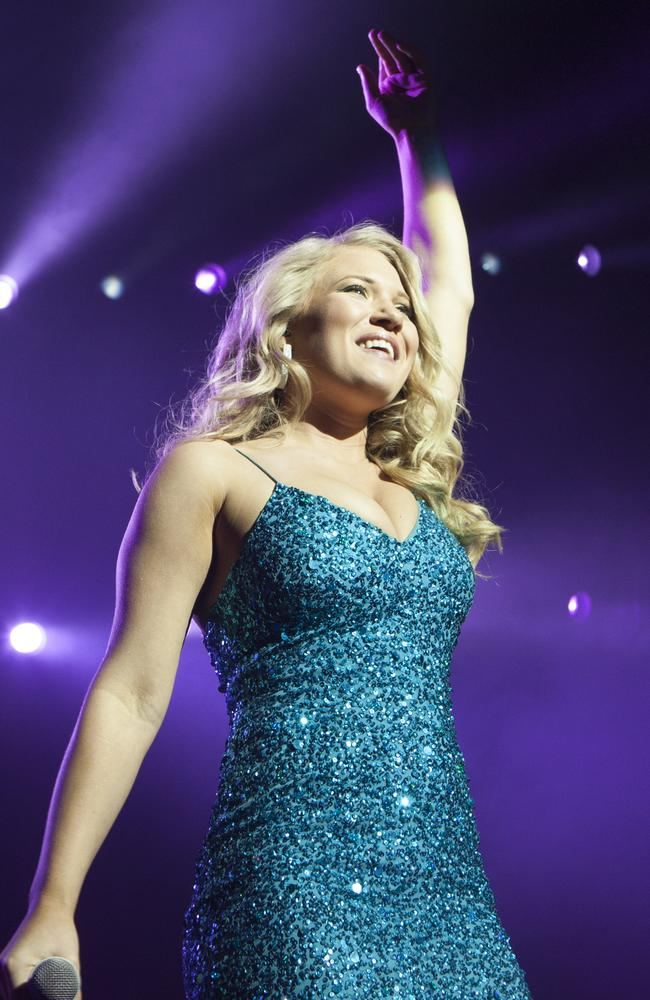 The Voice winner Anja Nissen at Perth Arena last night. Picture: Jordan Shields.
