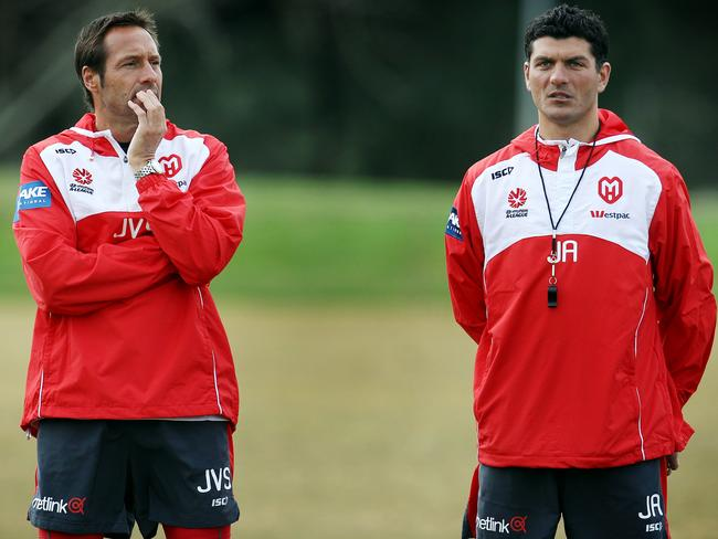 John Aloisi worked under van't Schip at Melbourne Heart.