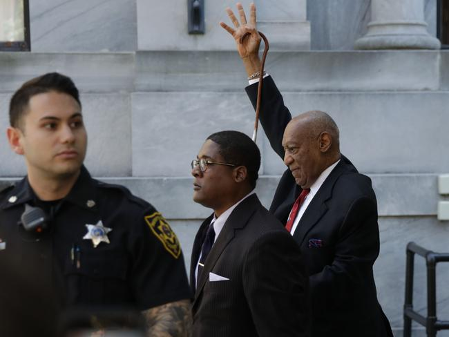 Actor and comedian Bill Cosby comes out of the courthouse after the verdict in the retrial of his sexual assault case at the Montgomery County Courthouse in Norristown, Pennsylvania. Picture: AFP