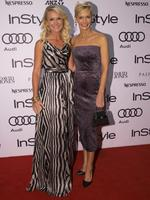 Sisters Harriet Price and Jessica Rowe at the 2014 InStyle and Audi Women of Style Awards, The entertainment Quarter, Sydney. (Pictures Justin Lloyd)