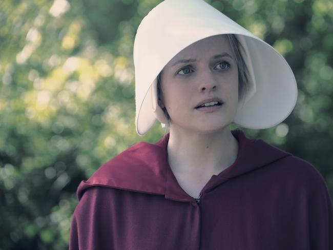 Elisabeth Moss in The Handmaid's Tale. Picture: Hulu